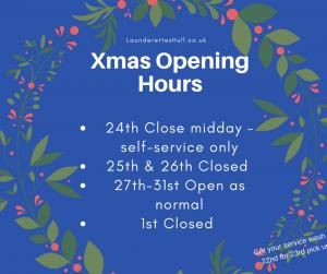 Xmas opening Days & time